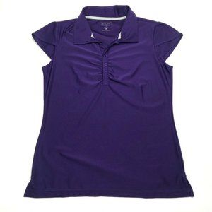 Athleta Womens Active Polo Shirt Purple Large